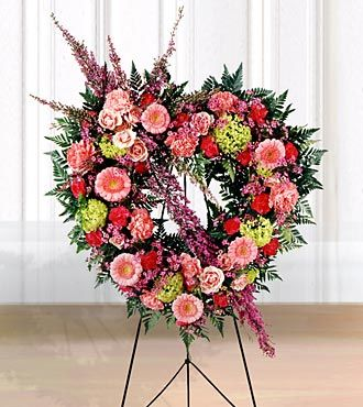 Funeral Flower on Ftd Eternal Rest Heart Wreath   Sympathy Flowers   Flowers Fast