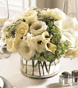 FTD White Linen Centerpiece