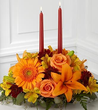 Ftd Bright Autumn Centerpiece Same Day Delivery