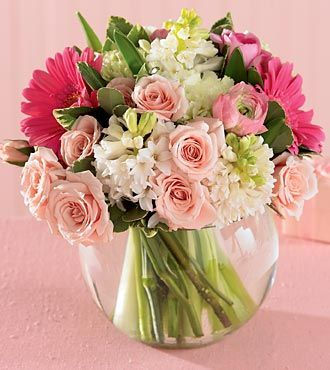 International Flower Deliveries on Ftd Pink Splendor Bouquet   Spring Flowers   Flowers Fast