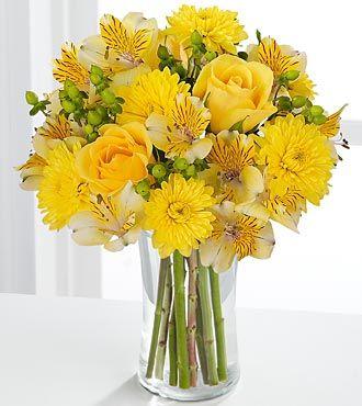Ftd sunny day bouquet birthday flowers flowers fast for Bouquet de fleurs jaunes
