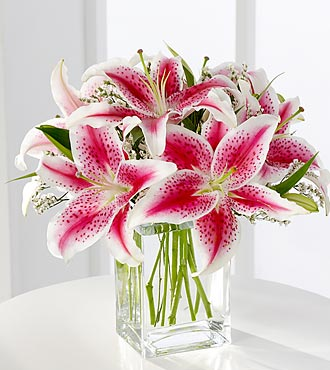FTD Pink Lily Bouquet - DELUXE
