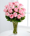 Image of Deluxe version for Long Stem Pink Rose Bouquet by FTD