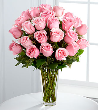Long Stem Pink Rose Bouquet by FTD - PREMIUM