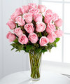 Image of Premium version for Long Stem Pink Rose Bouquet by FTD