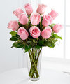 Image of Standard version for Long Stem Pink Rose Bouquet by FTD