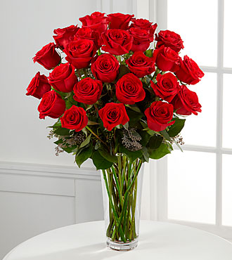 Long Stem Red Rose Bouquet by FTD - PREMIUM