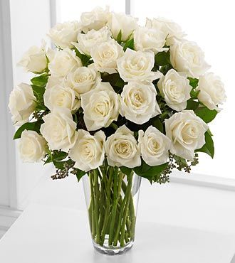 Cheap Flower Bouquets on Stem White Rose Bouquet   Premium   Anniversary Flowers   Flowers Fast