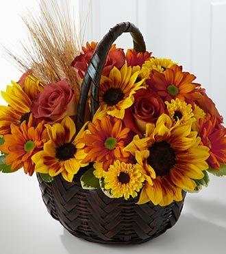 Ftd Harvest Sunshine Basket Deluxe Fall Amp Thanksgiving