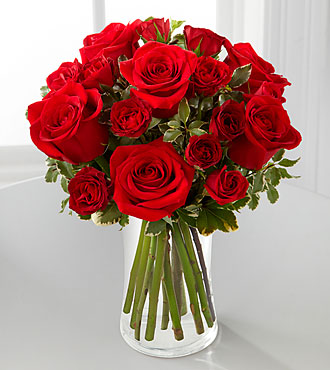 Flowers Fast coupon: Red Romance Rose Bouquet by FTD