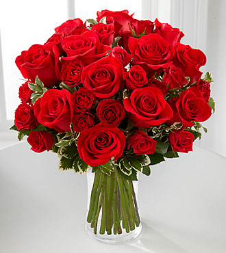 Red Romance Rose Bouquet by FTD - PREMIUM