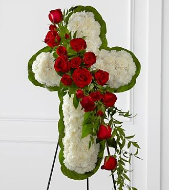 FTD Floral Cross Easel - S12-4464