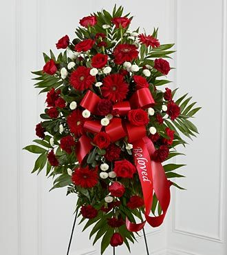 FTD Treasured Memories Standing Spray - DELUXE