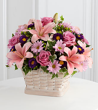 Flowers Fast coupon: FTD Loving Sympathy Basket