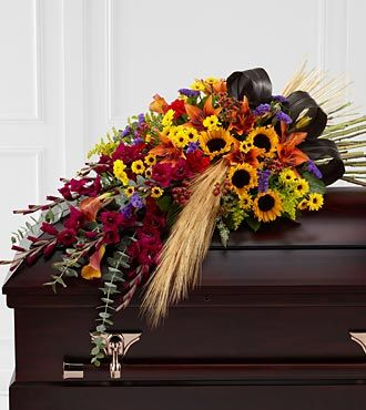 FTD Glorious Garden Casket Spray - DELUXE