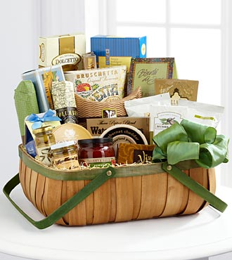 FTD Heartfelt Sympathies Gourmet Basket - PREMIUM