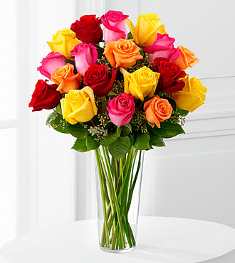 Bright Spark Rose Bouquet by FTD - DELUXE