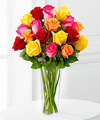 Image of Deluxe version for Bright Spark Rose Bouquet by FTD