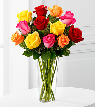 Bright Spark Rose Bouquet by FTD