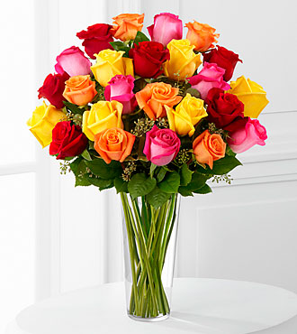 Bright Spark Rose Bouquet by FTD - PREMIUM