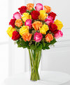 Image of Premium version for Bright Spark Rose Bouquet by FTD