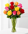 Image of Standard version for Bright Spark Rose Bouquet by FTD