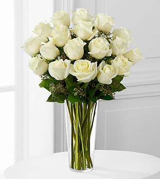 White Rose Bouquet by FTD - DELUXE