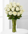 Image of Deluxe version for White Rose Bouquet by FTD