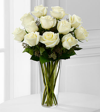White Rose Bouquet by FTD - E8-4812