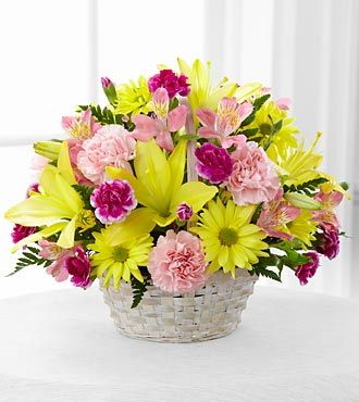 FTD Basket of Cheer Bouquet - DELUXE