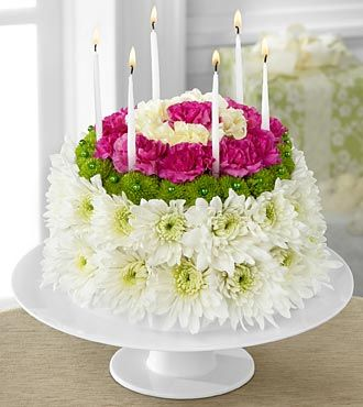 Wonderful Wishes Floral Cake by FTD - D2-4896