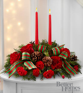 FTD Holiday Classics Centerpiece by Better Homes and Gardens