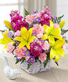 Image of Deluxe version for FTD Bright Lights Bouquet with Lavender Basket