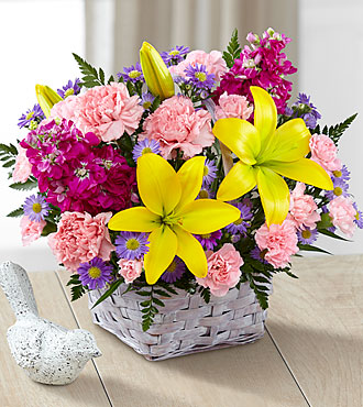 FTD Bright Lights Bouquet with Lavender Basket - B21-4968