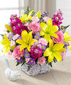 Image of Premium version for FTD Bright Lights Bouquet with Lavender Basket