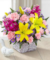 FTD Bright Lights Bouquet with Lavender Basket