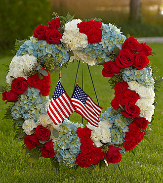 FTD To Honor One's Country Wreath - S43-5026S