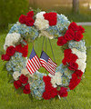 Ftd To Honor Ones Country Wreath