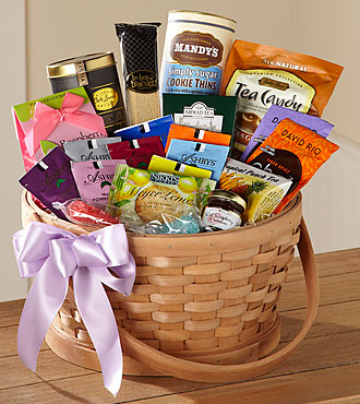 FTD Quiet Tribute Gourmet Basket - S49-5032S