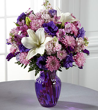 FTD Shades of Purple Bouquet - DELUXE