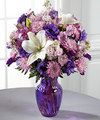 Image of Deluxe version for FTD Shades of Purple Bouquet