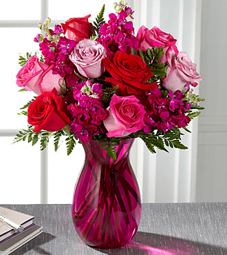 pure pink rose bouquet - photo #1