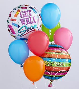 Get Well Balloon Bunch - EO-6035