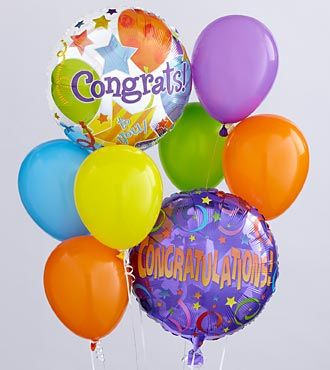 Congratulations Balloon Bunch - EO-6036