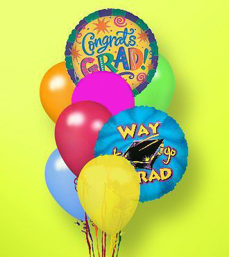 Flower Bouquet Delivery on Graduation Balloon Bunch   Balloon Bouquets   Flowers Fast