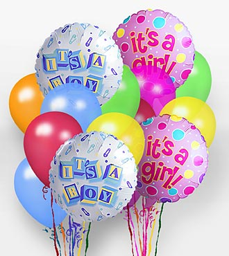 A Baby Girl Balloon Bunch - EO-6100