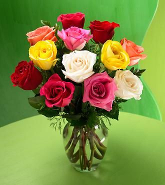 Ftd Premium Long Stemmed Mixed Color Rose Bouquet Same