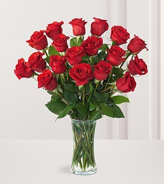 FTD Premium 18 Long Stemmed Red Roses Bouquet