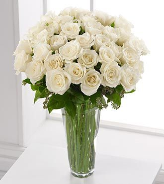 Worldwide Flower Delivery on Ftd White Rose Bouquet   36 Stems   Roses   Flowers Fast