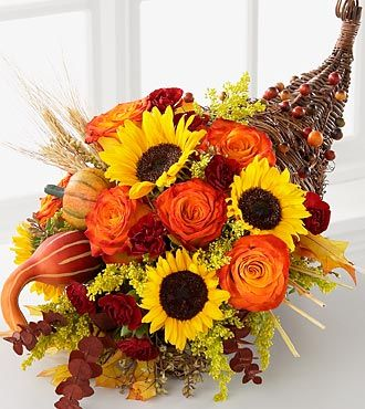 Ftd Cornucopia Deluxe Fall Thanksgiving Flowers